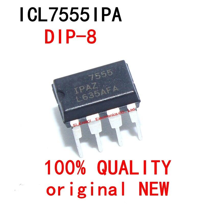 10 pçs/lote ICL7555IPA ICL7555 7555 DIP-8 novo garantia de qualidade original