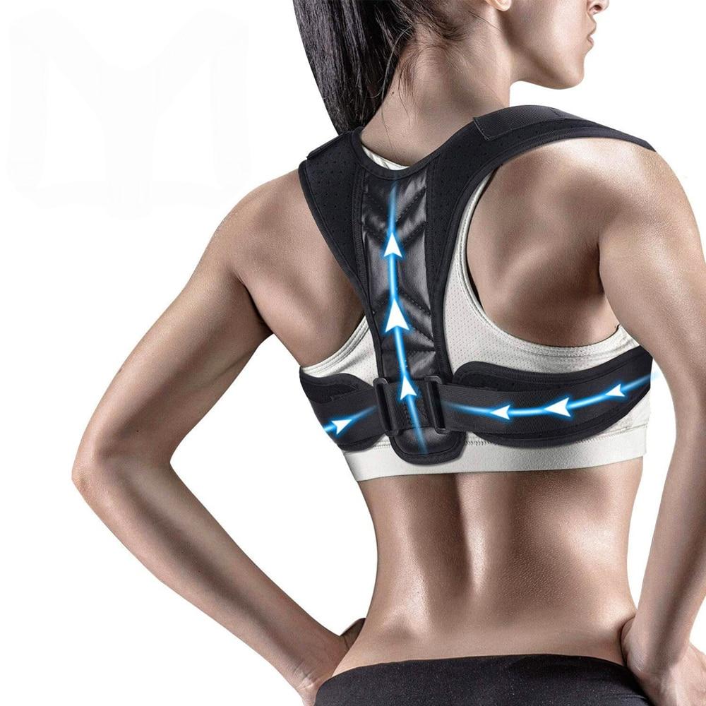 Adjustable Posture Corrector Back Brace Comfortable Posture Trainer for Spinal Alignment & Posture Support Humpback Straightener