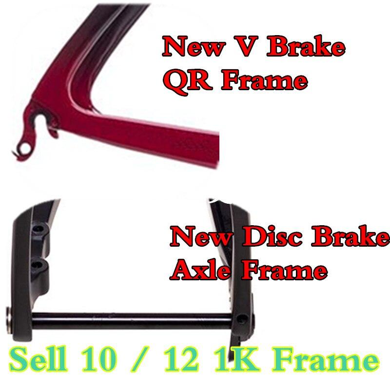 Axle Bicycle BSA BB30 And DI2 Road Bike Frame 700C Full Carbon Fiber Road Bicycle Parts V Brake And DISK Road Frameset