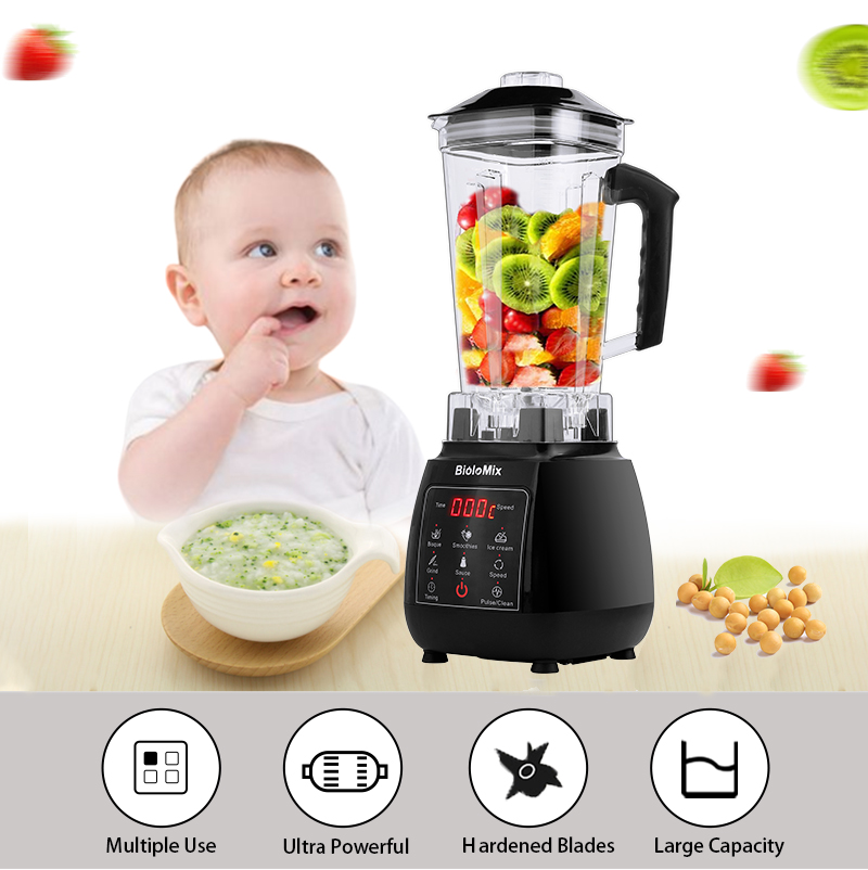 Hf35b8aba2649469c8d6b6daf89fc2428J Digital 3HP BPA FREE 2L Automatic Touchpad Professional Blender Mixer Juicer High Power Food Processor Ice Smoothies Fruit