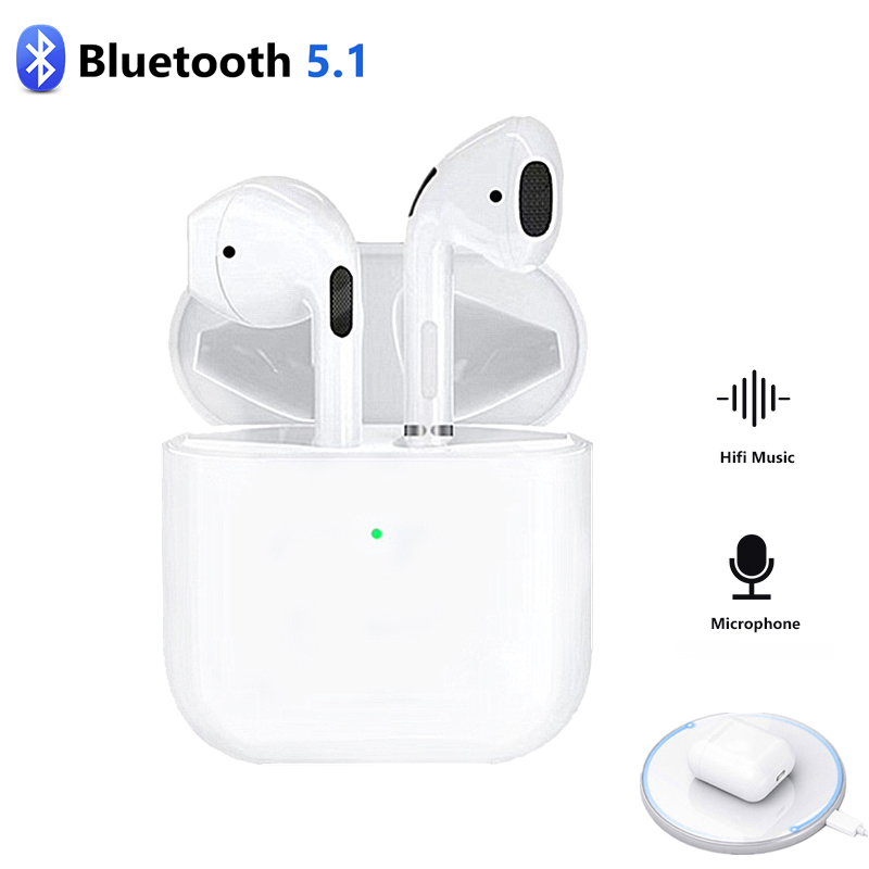 Newest Mini Pro 4 TWS Bluetooth Earphone Wireless Headphones Sport Handsfree Earbuds Stereo Noise Cancel Gaming Headset with Mic