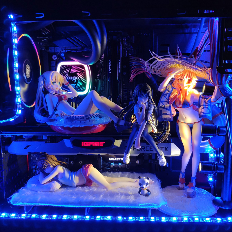 Anime Action Figure Statues for PC Cases 1
