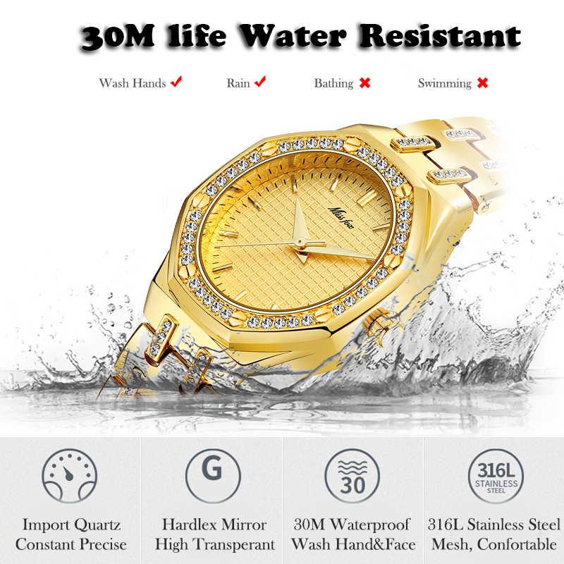 MISSFOX נשים שעוני נשים אופנה שעון 2019 יוקרה מותג גבירותיי שעון עמיד למים זהב קוורץ Ap שעון Xfcs נשי שעון שעות
