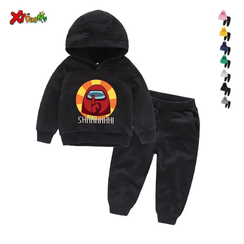 Game Among Us Hoodies Pants Suit for Teens Girls Boys Children Cartoon Anime Sweatshirt Suit Kids Autumn Winter Clothes Sudadera 3