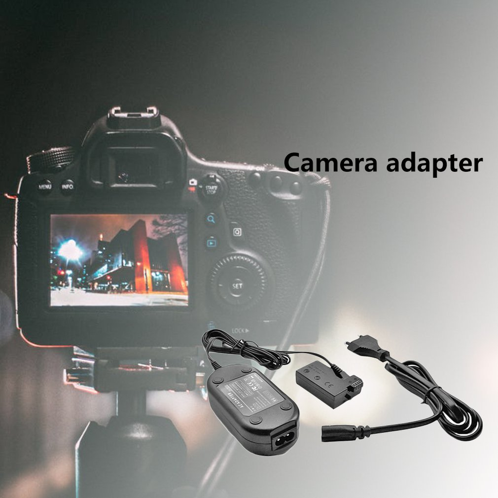 1Pcs ACK-E8 Power Supply DR-E8 External Power Adapter For Canon 550D600D For Canon EOS Rebel T5i Charger Adapter