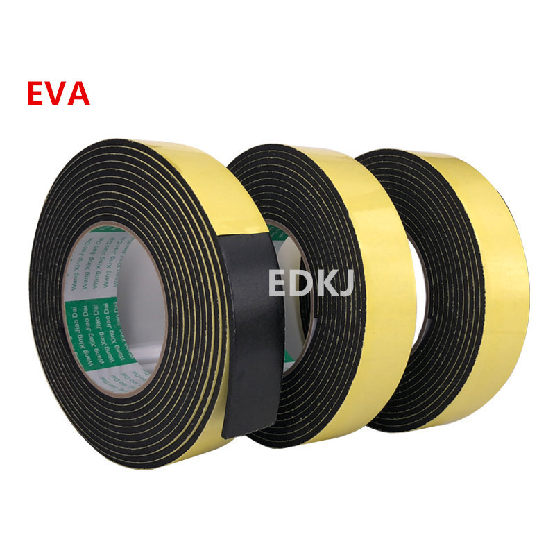 8/10/12/15/20mm Single Sided Adhesive Waterproof Weather Stripping Foam Sponge Rubber Strip Tape For Window Door Seal Strip