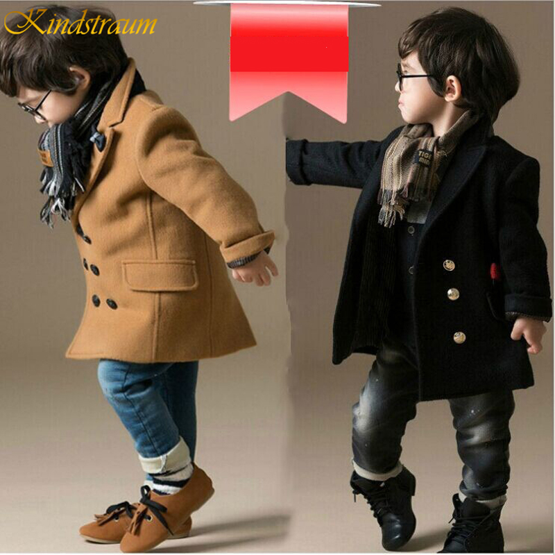 2019 Toddler Wool/Blends Coat Thick Boys Wool Jackets Autumn/Winter Quilted Coat Cloak Jacket For Boy Thick Warm Clothes DC156