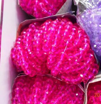 FLTMRH Rose couleur 3*4mm 140 pièces Rondelle autriche facettes cristal perles de verre entretoise en vrac perles rondes pour la fabrication de bijoux