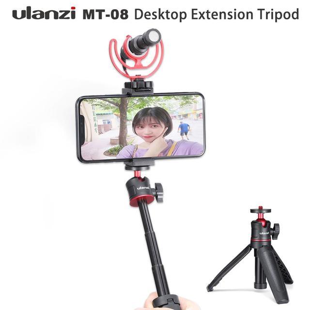 Ulanzi MT 08 להארכה Vlog חצובה SLR DSLR מצלמה Smartphone חצובה הר עבור Sony A6400 A6600 RX100 ZV1 Canon G7X ניקון