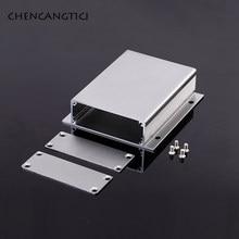 1 conjunto de alumínio pcb caixa de instrumento de uma peça de alumínio habitação com orelhas de alumínio habitação para produtos eletrônicos caixa de junção diy