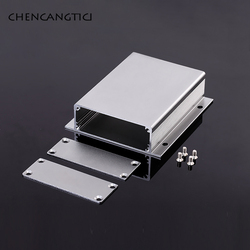1 Set Aluminum PCB Instrument Box One-Piece Aluminum Housing With Ears Aluminum Housing For Electronic Products Junction DIY Box