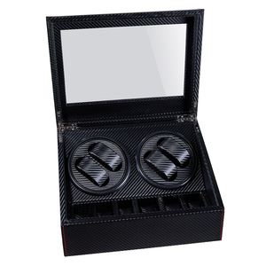 Image 4 - High End Automatic Watch Winder Box 4+6 Watches Storage Jewelry Holder Display PU Leather Watch Box Ultra Quiet Motor Shaker Box