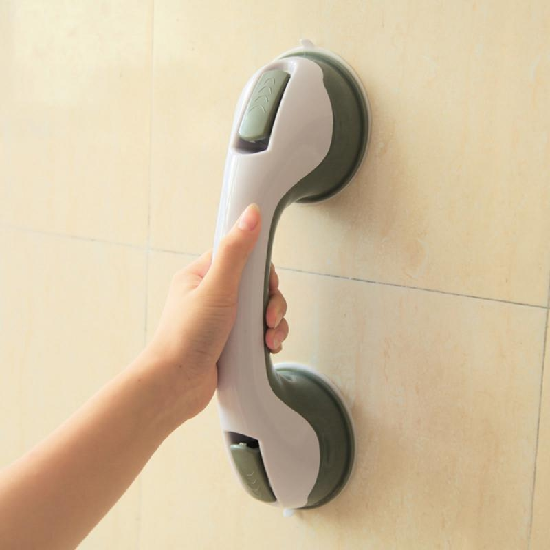 1pc Home Suction Cup Armrest Safety Handrail Bathroom Door Vacuum Handle Non-slip Bathroom Bathroom Railing Bathroom Handle Tool