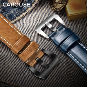 Image 5 - להתהולל שמן שעוות עור בעבודת יד עבור אפל שעון להקת סדרת SE/6/5/4/3/2/1 38mm 42mm רצועת עבור iWatch 44mm 40mm רצועת השעון