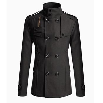 Cashmere-Wool Blend Overcoat for Men