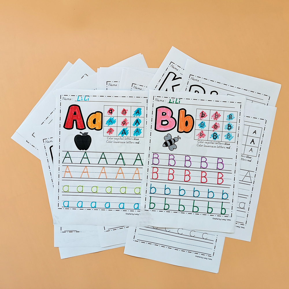 Alphabet Worksheets 26 Letters From A To Z Practice Paper Preschool Learning English Homework Workbook Coloring Books For Kids Aliexpress [ 1000 x 1000 Pixel ]