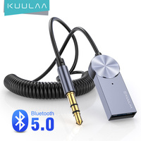 KUULAA Aux بلوتوث محول دونغل كابل لسيارة 3.5 مللي متر جاك Aux بلوتوث 5.0 استقبال المتكلم الصوت الموسيقى اللاسلكية الارسال