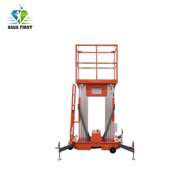 10m Mobile Telescopic Aluminum Alloy Working Ladder Lifting Platforms