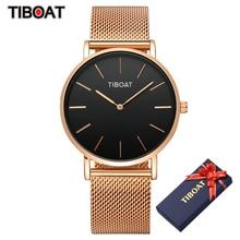 TIBOAT watch women 2020 top brand luxury stainless steel stylish watch