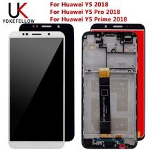 Huawei Y5 2018 용 LCD Huawei Y5 Pro 2018 용 LCD 디스플레이 터치 스크린 디지타이저 어셈블리 Huawei Y5 Prime 100% 용 2018 테스트
