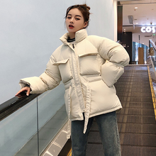 Parkas Mujer 2020 Down Cotton Padded Jacket Women Plus Size Loose Pocket Short Parka Thick Warm Ladies Winter Jackets DA18(China)