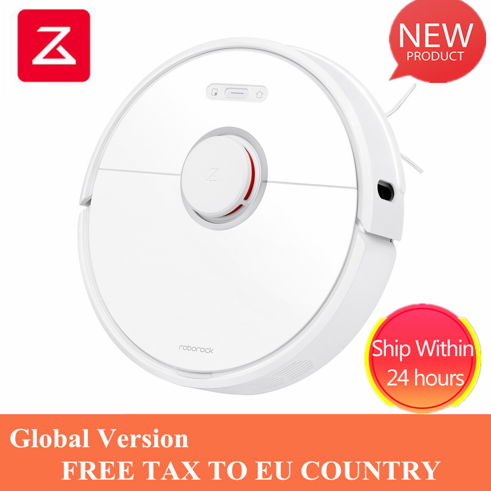 Roborock S6 White Robot Vacuum Cleaner Home Automatic Sweeping Dust Sterilize Smart Planned Washing Mopping VS Roborock S50 S55