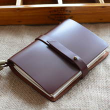 Genuine Leather Notebook Luxury Travelers Notebooks Journal Planner Sketchbook With Snap Button Personal Diary Office Stationery