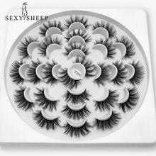 SEXYSHEEP – Faux cils 3D en vison, Extension de maquillage, longs, naturels, 5/8/13 paires