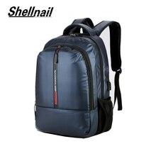 Shellnail Chống Nước Laptop Túi Ba Lô 15.6 17.3 Inch Túi Đựng Máy Tính Xách Tay 15 17 Inch Túi Máy Tính USB Cho MacBook air Pro Dell HP Túi