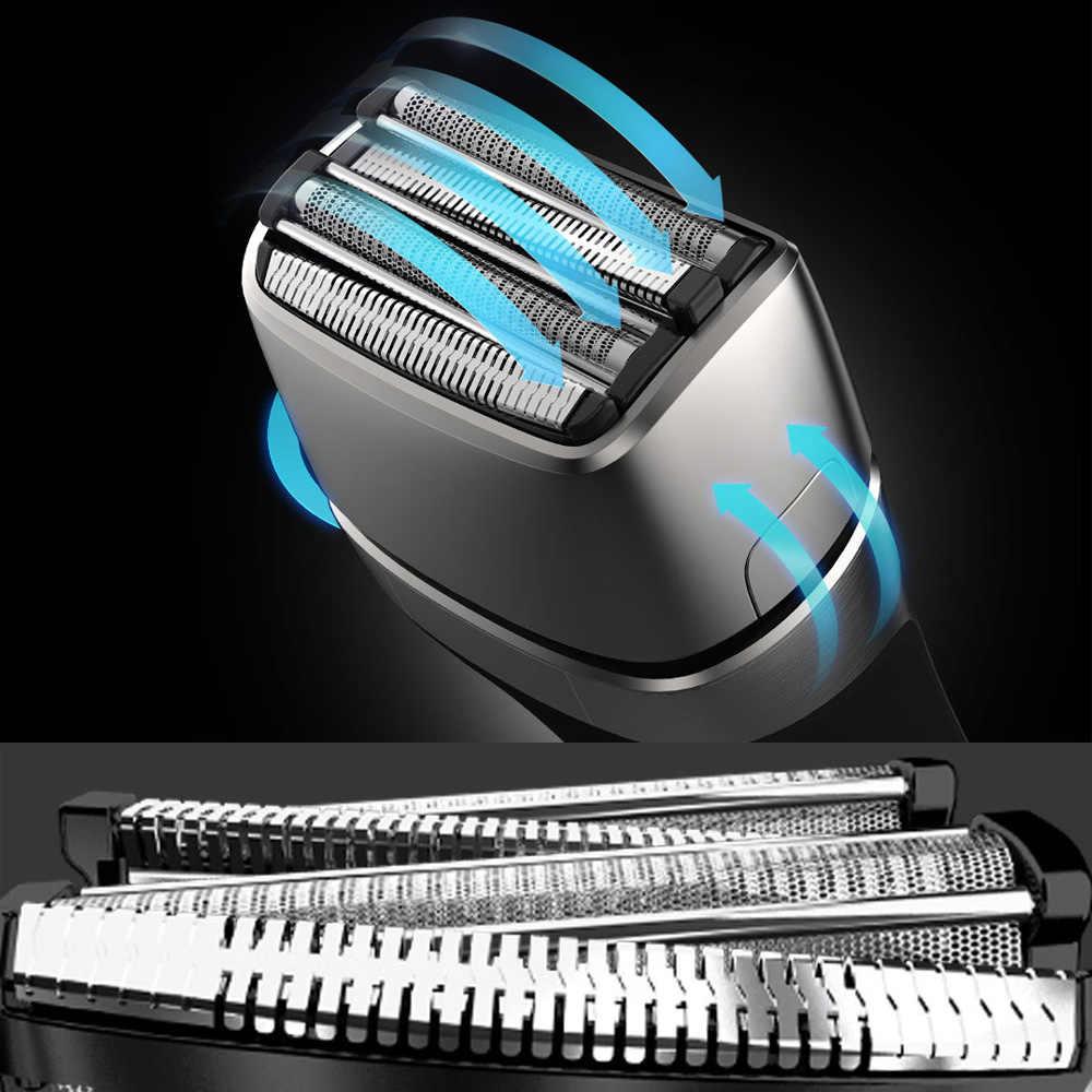 SMATE חשמלי מכונת גילוח לxiaomi תער Mijia הדדיות תער איש גילוח מכונת ארבעה להב רחיץ תשלום מהיר עם מברשת