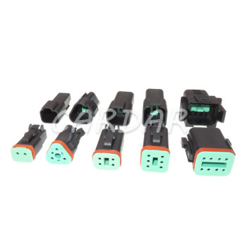 1 Set Deutsch DT Black Connector Waterproof Electrical Plug DT06/DT04 2/3/4/6/8 Pin Engine/Gearbox For Car Bus Motor Truck image
