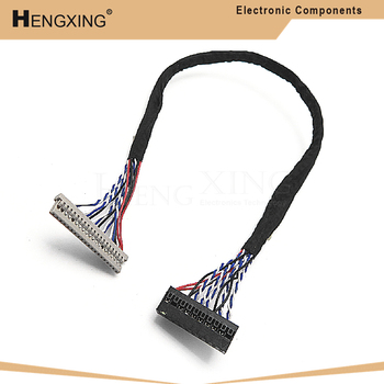 1piece 400MM DF14-20P-D8 1ch 8bit 20pin LVDS CABLE wire to dupont for LCD board In Stock image