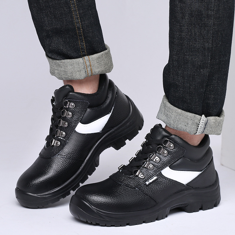 High-temperature Resistant Safety Shoes Customizable Anti-smashing And Anti-penetration Hight-top Cowhide Safety Shoes