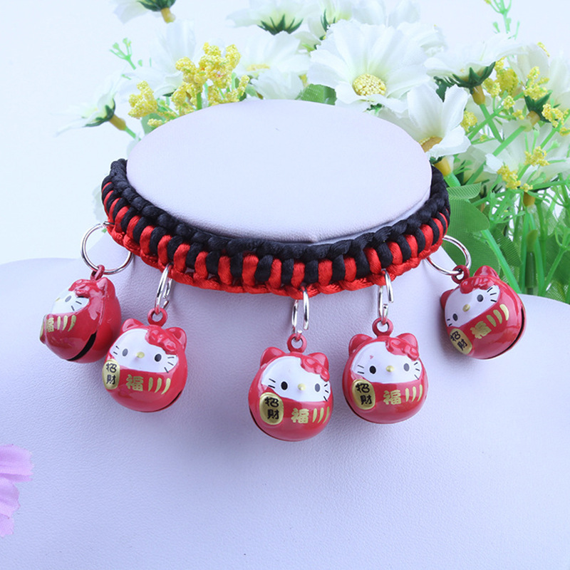 New Style Hot Selling Dog Cartoon Bell Neck Ring Pet Dog Necklace Teddy Pet Cat Dog Neck Ring Accessories