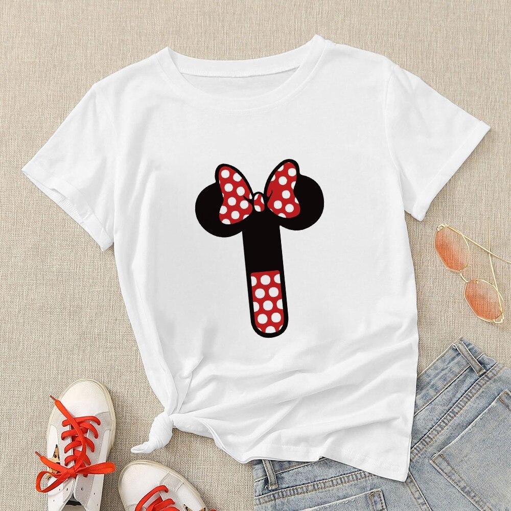 Disney Aesthetic Women Modern T Shirt Creative Oversize T-shirt Streetwear Mickey Letter H Graphic Short Sleeve Casual Tshirt 3