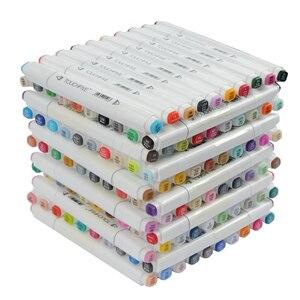 Image 5 - Touchfive 30/60/80/168 צבעים אמנות סמני אלכוהול שמנוני סמן לציור מנגה מברשת עט אנימציה עיצוב אמנות אספקת Marcador