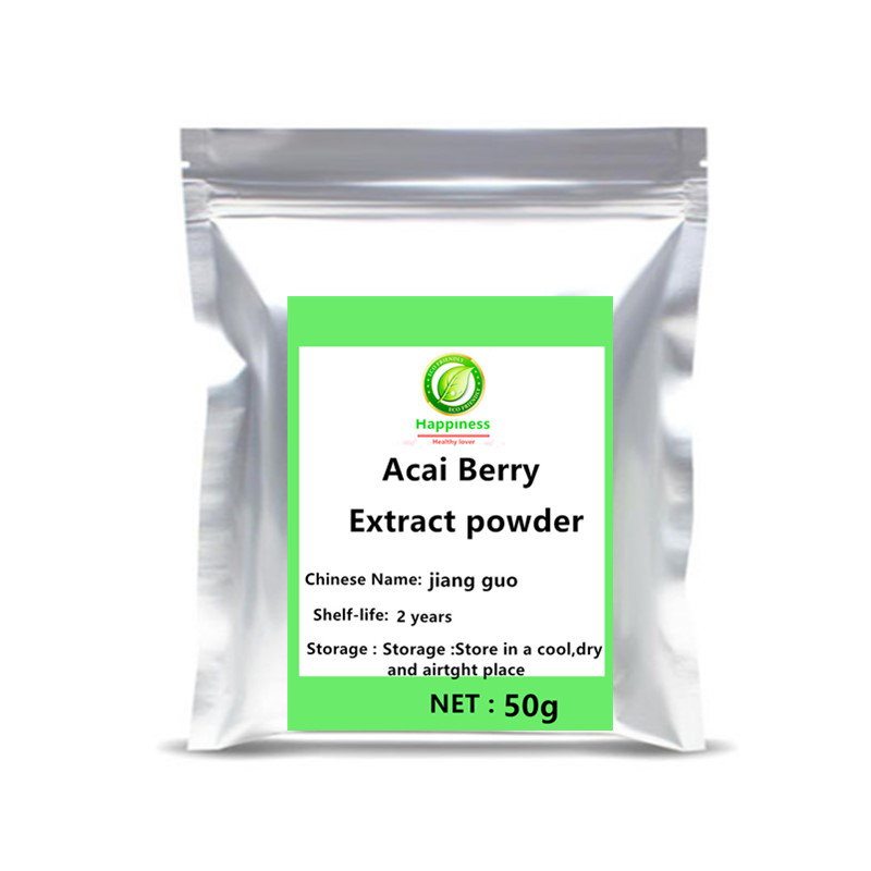 High quality Acai Berry Fruits Extract Powder supplement No addition adjustable women/men sex anemia Anti cancer free shipping. image