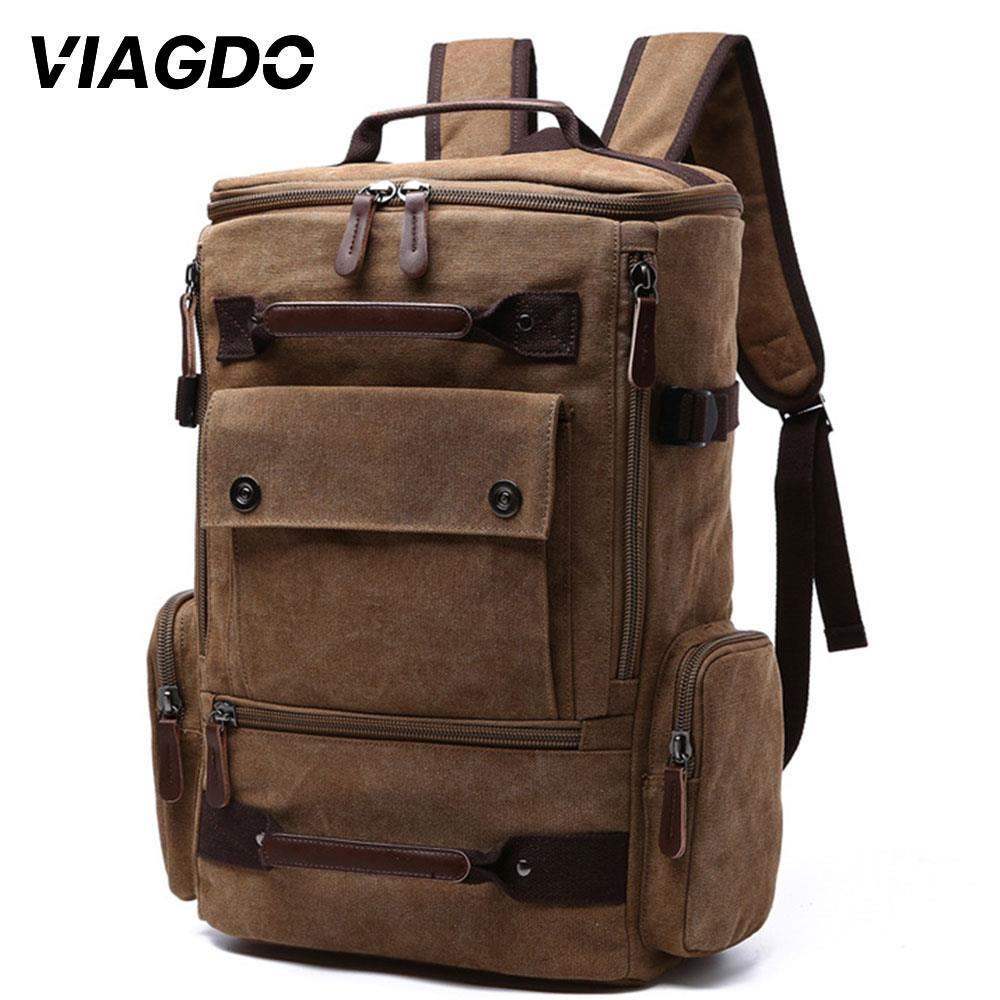 20-35L Multifunction Outdoor Backpack Canvas Computer Bag  Hiking Fishing Climbing Hunting Ports Bags Storage Shoulders Bag