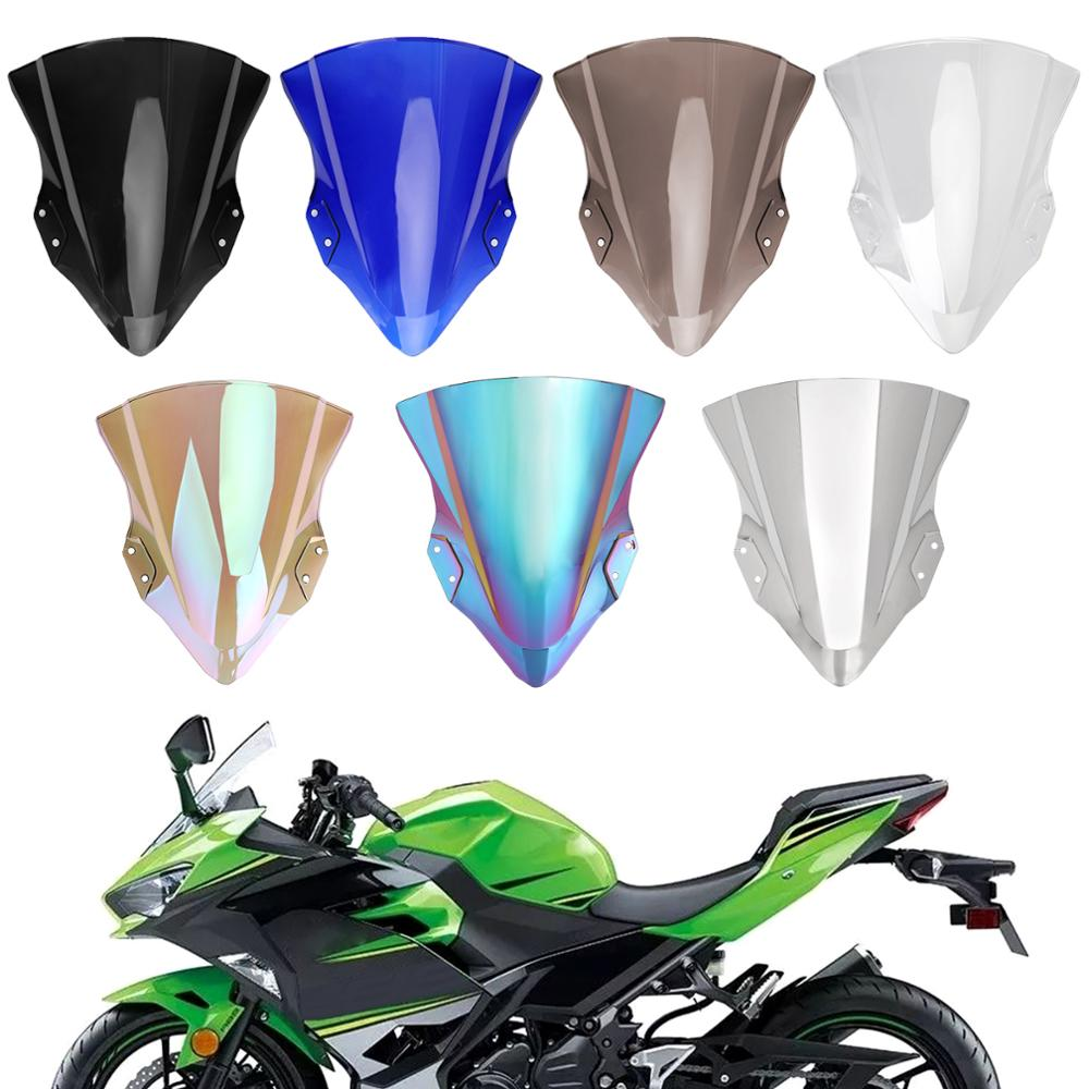 Areyourshop For Kawasaki 2018-2019 <font><b>Ninja</b></font> <font><b>400</b></font> Motorcycle Windshield <font><b>Windscreen</b></font> ABS Transparent image