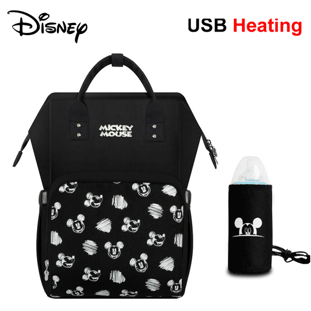 Disney Diaper Bags Waterproof Backpack for Moms Baby Bag Maternity for Baby Care Mommy Nappy Bag Travel Send Free 1Pair Hooks   Happy Baby Mama