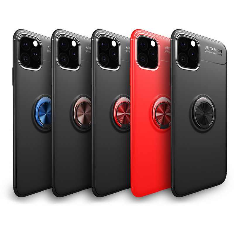 For Apple iPhone 11 Pro Max 2019 XR XS MAX X Ring Holder Rubber Soft Case Cover For iPhone XS Max XR X 8 6s 7 Plus 6 Coque