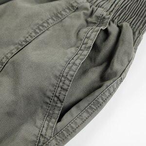 Image 4 - קיץ סתיו אופנה גברים מכנסיים מקרית כותנה מכנסיים ארוכים ישר רצים Homme בתוספת גודל 5xl 6xl שטוח מכנסיים לגברים בגדים