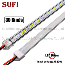 Жесткая светодиодная лента, 5 шт., 220 В переменного тока, 20 см, 40 см, 50 см, 60 см