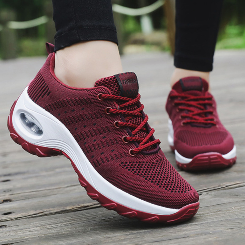 Women Sneakers Shoes Trainers Tenis Wedge Height Feminino Fitness Outdoor Walking Female title=
