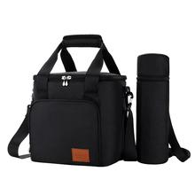Lunch Bag Box For Insulated Thermal Bento Picnic Bags Work Office School Adjustable Strap Food Storage With Bottle