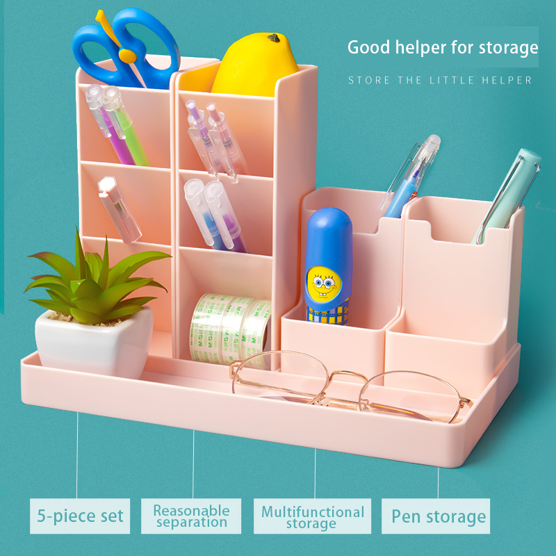 Multi functional school office student desk pen pencil holder case desk organizer stationery supplies storage