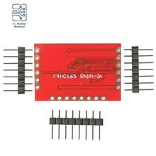 DC3.3-5V 74HC595 Expansion Module Shift Register + Pin header Low Power Consumption Standard Serial (SPI) Interface