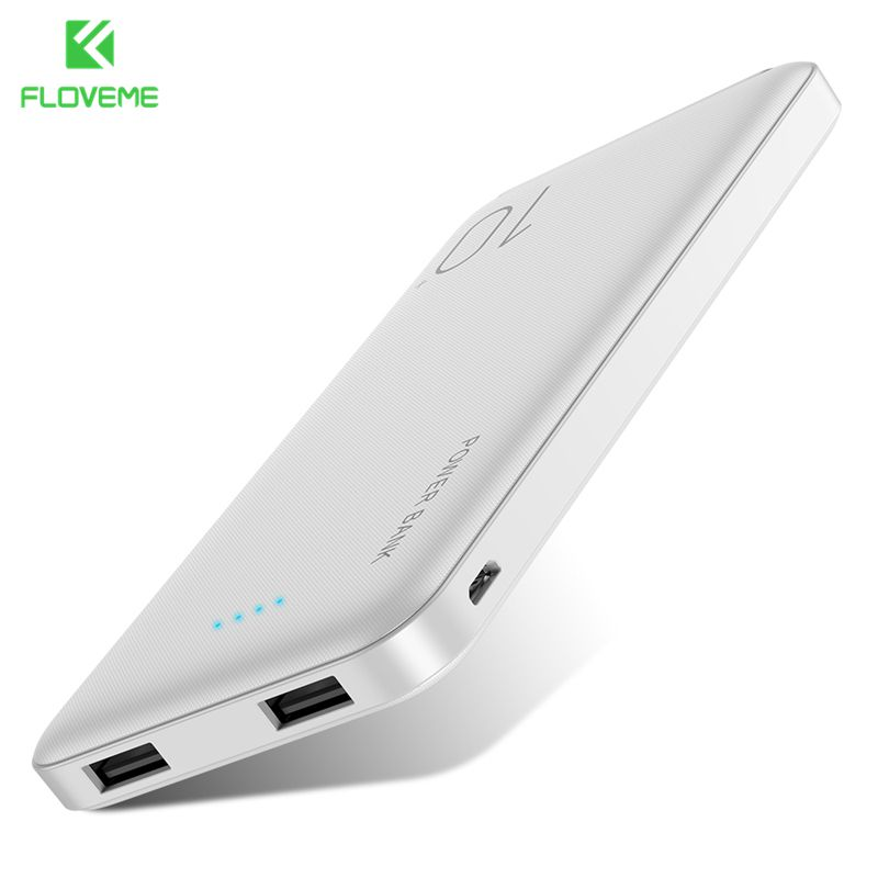 FLOVEME, 10000 мА/ч, внешний аккумулятор для Xiao mi iphone, двойной USB, тонкий внешний аккумулятор, портативное зарядное устройство, mi power Bank, 10000 мА/ч, пове...
