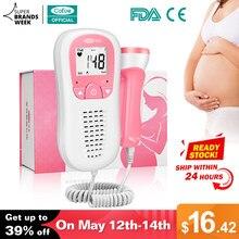 Cofoe – Détecteur portatif de rythme cardiaque de foetus, sans radiation, stéthoscope pulsomètre, pour la maison, soins pour bébés, femmes enceintes