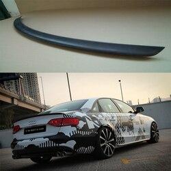A4 B8 OSIR styl z włókna węglowego tylne skrzydło spoilera dla Audi A4 B8 2009 ~ 2012